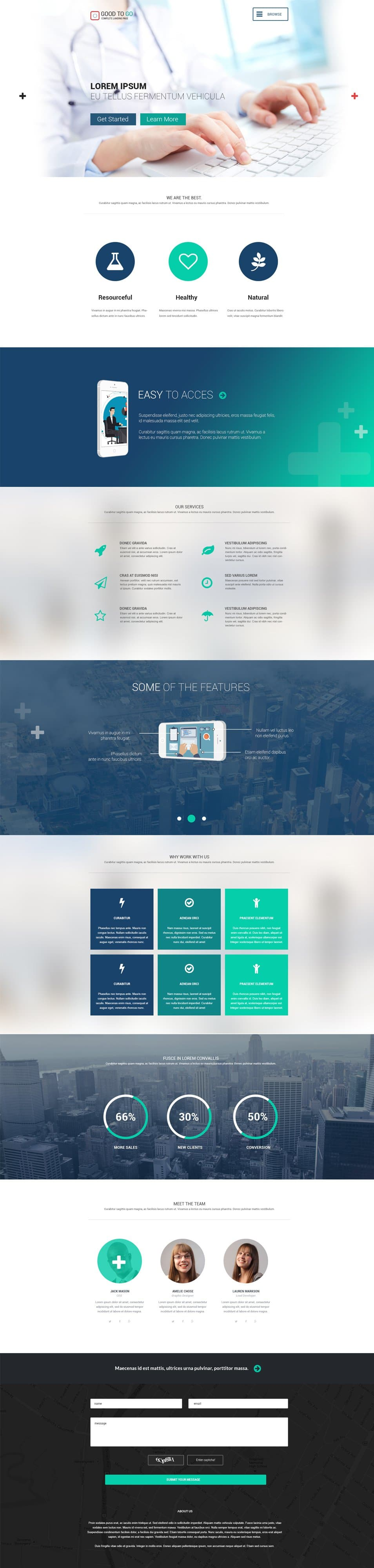 Good To Go – Single Page PSD Template