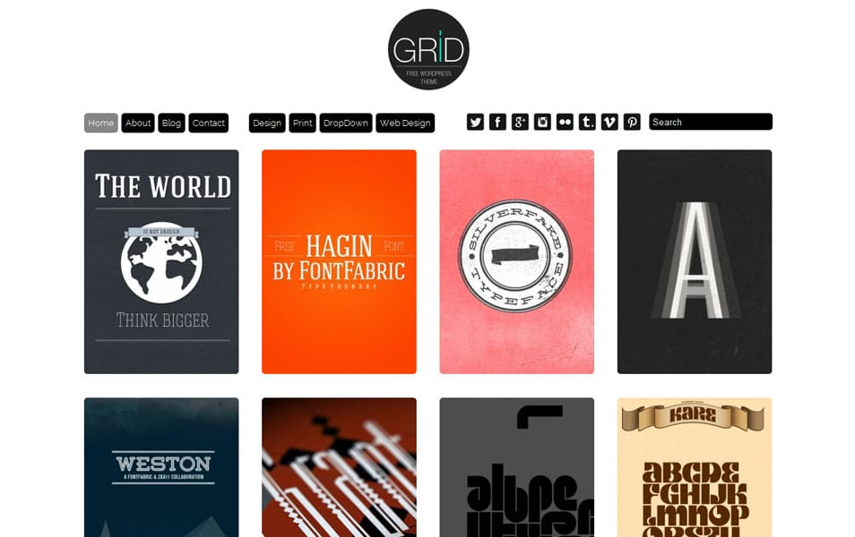 Grid Free Portfolio WordPress Theme