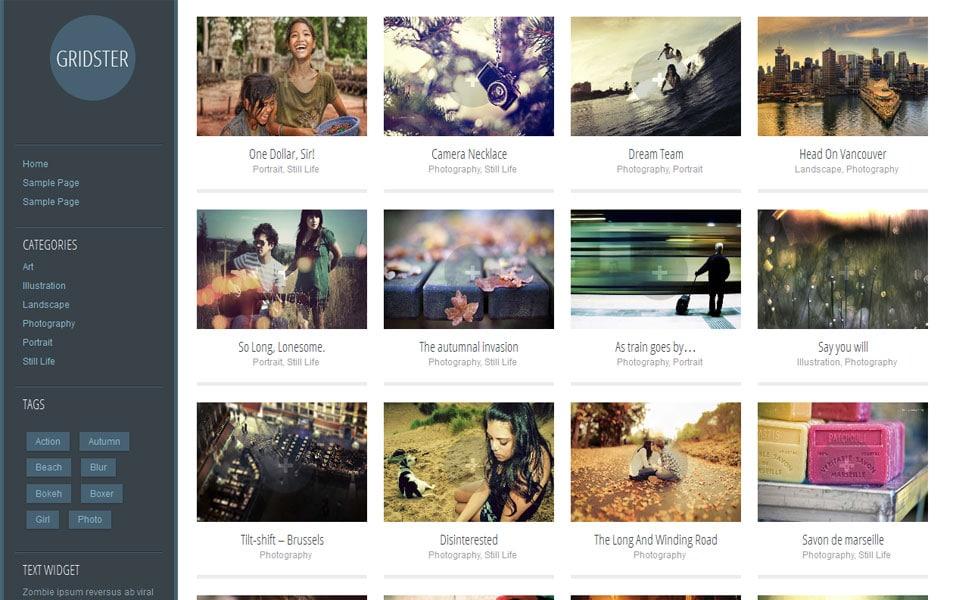 Gridster Lite Free Portfolio WordPress Theme