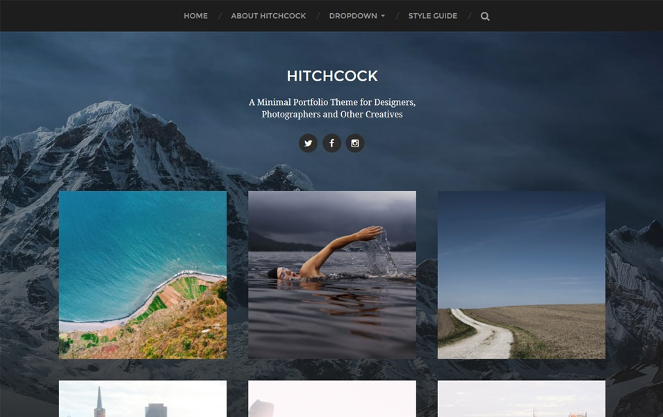 Hitchcock Responsive WordPress Theme