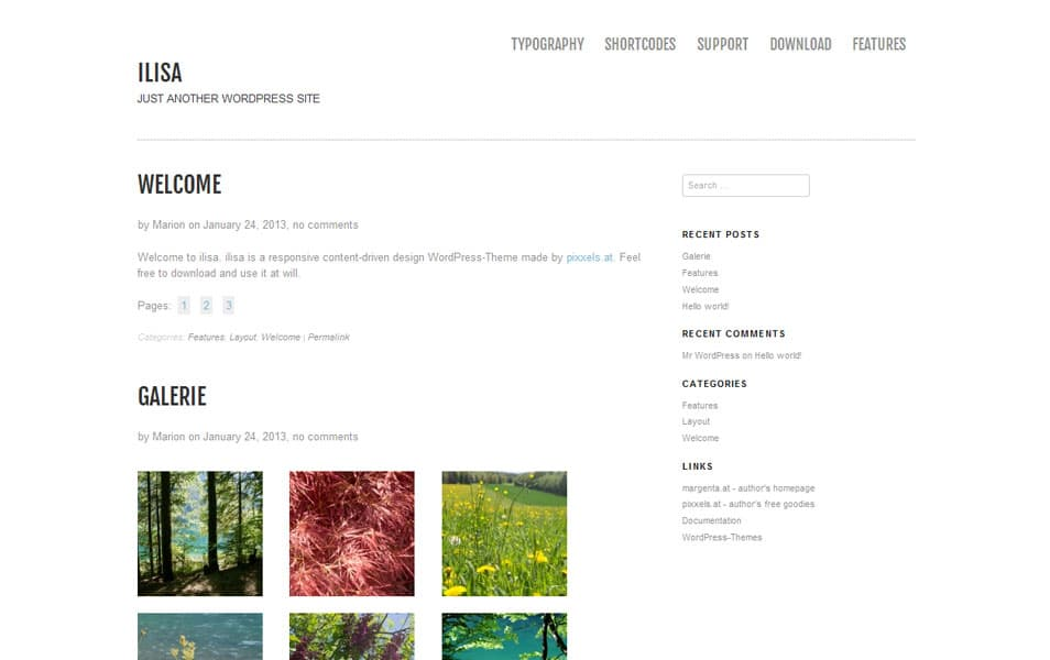 Ilisa Free Portfolio WordPress Theme