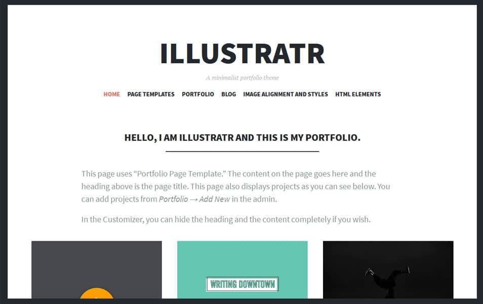 Illustratr Free Portfolio WordPress Theme