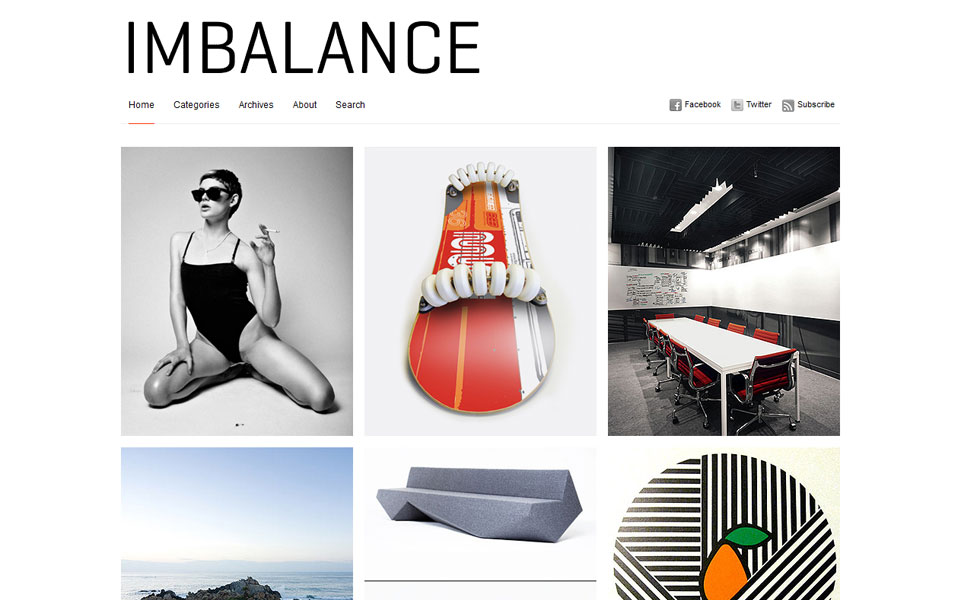 Imbalance Free Photography WordPress Theme