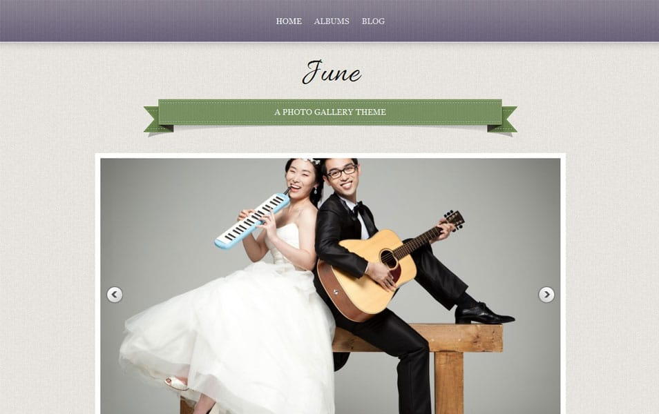 June Free Portfolio WordPress Theme