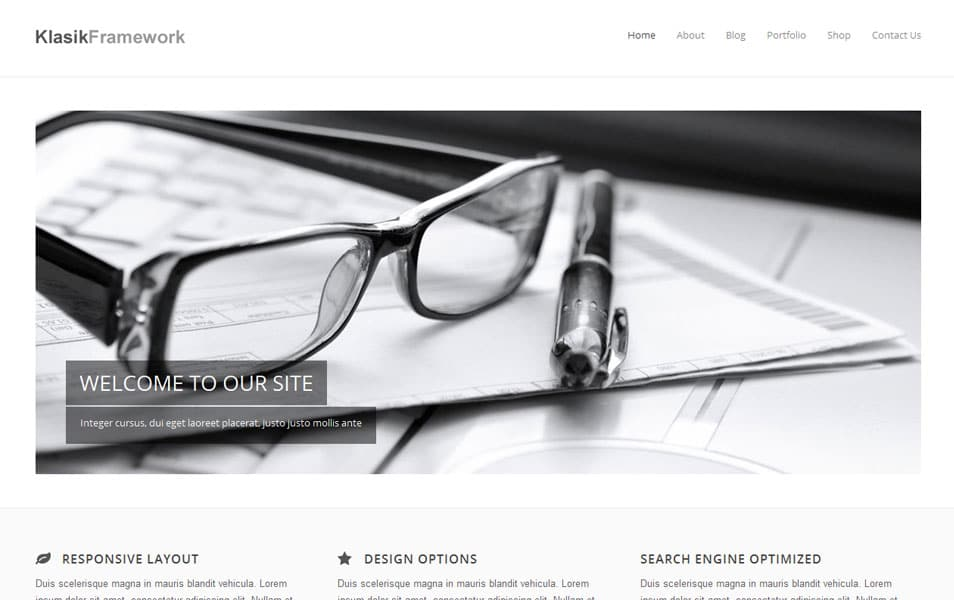 Klasik Free Portfolio WordPress Theme