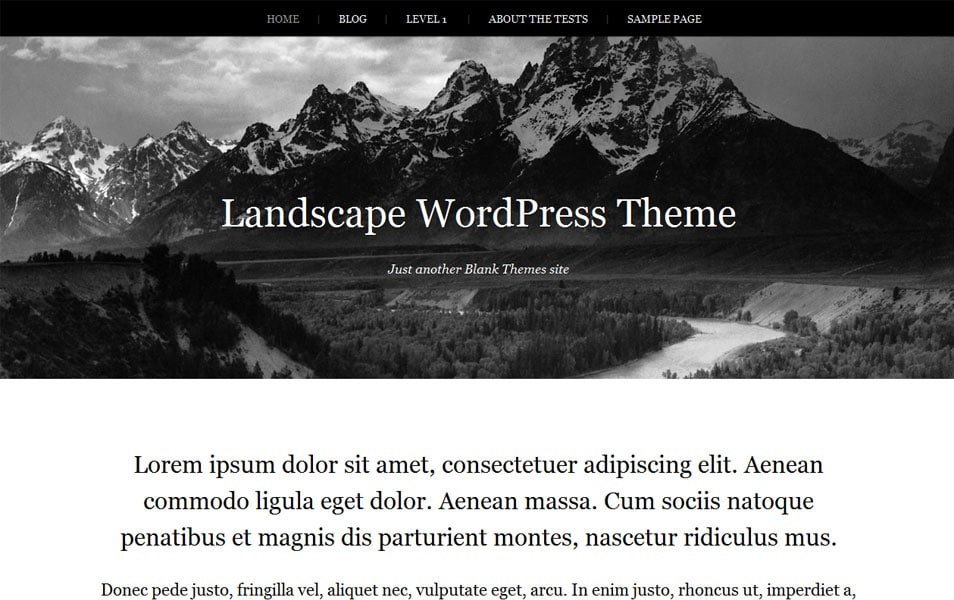Landscape Free Photography WordPress Theme