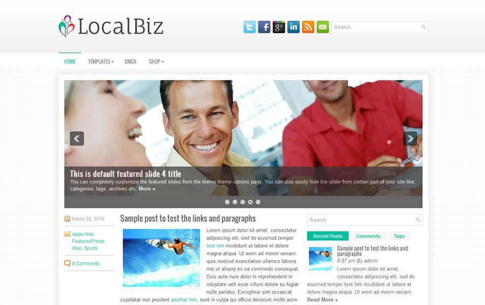 LocalBiz Free Portfolio WordPress Theme