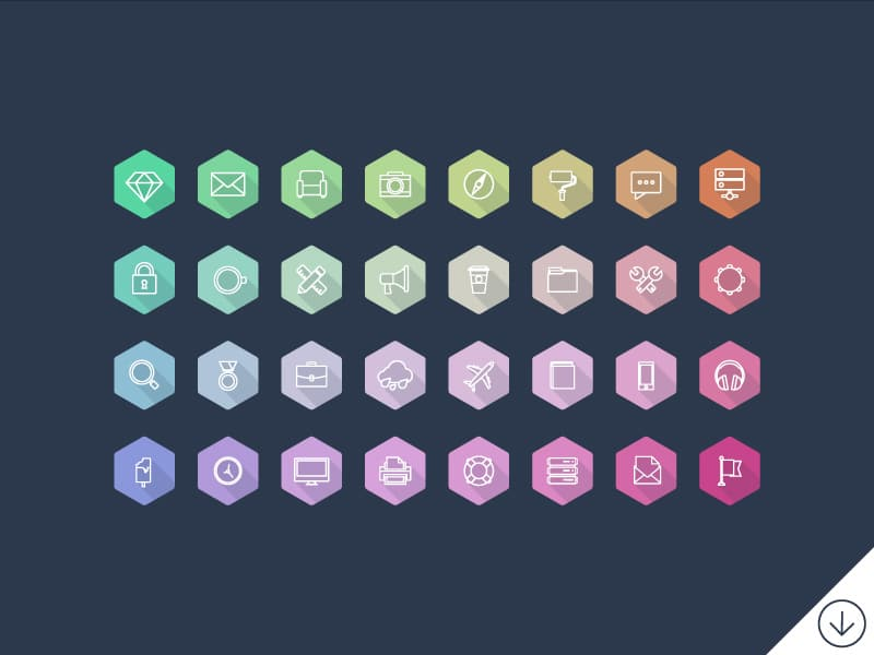 Lumina Hexagon Icons