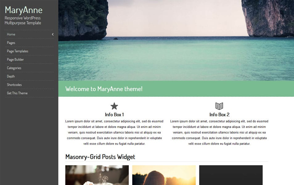 MaryAnne Free Portfolio WordPress Theme