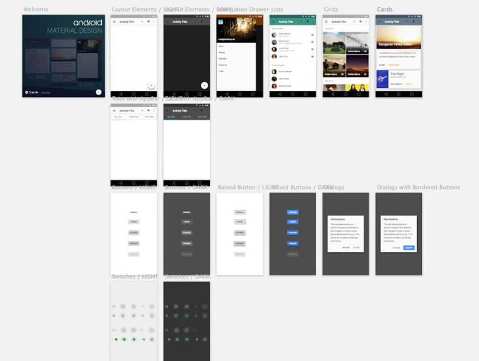 Material Design Android sketch