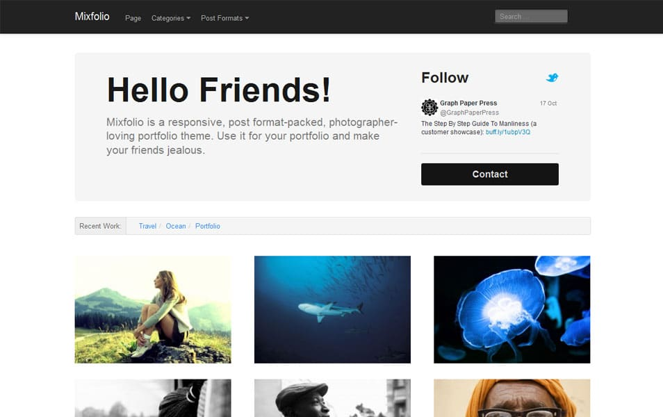 Mixfolio Free Portfolio WordPress Theme