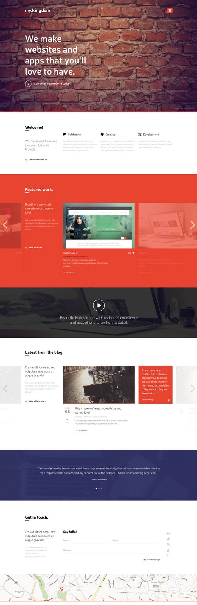 My Kingdom – One Page PSD Template