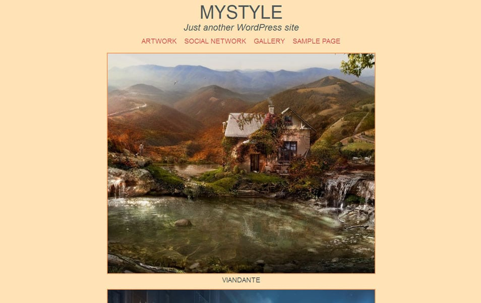 Mystyle Free Photography WordPress Theme