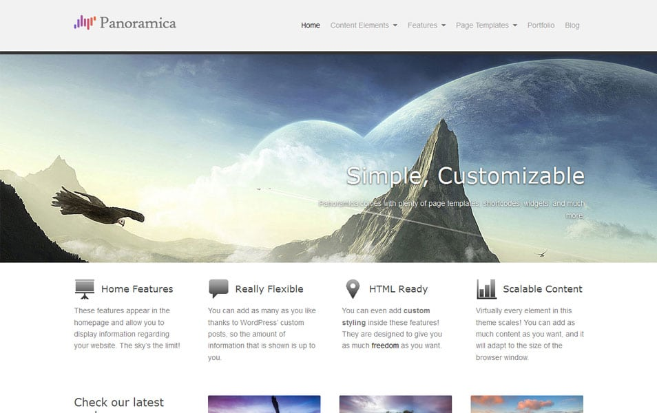 Panoramica Free Portfolio WordPress Theme