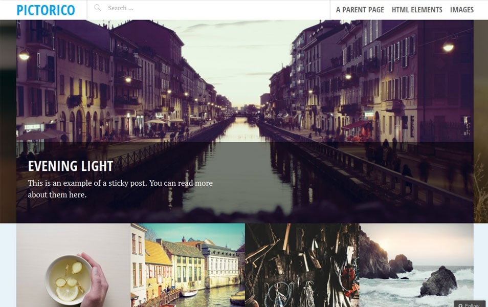 Pictorico Free Photography WordPress Theme