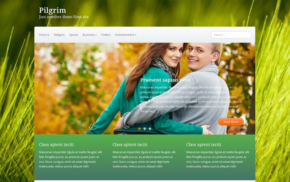 Pilgrim Free Portfolio WordPress Theme