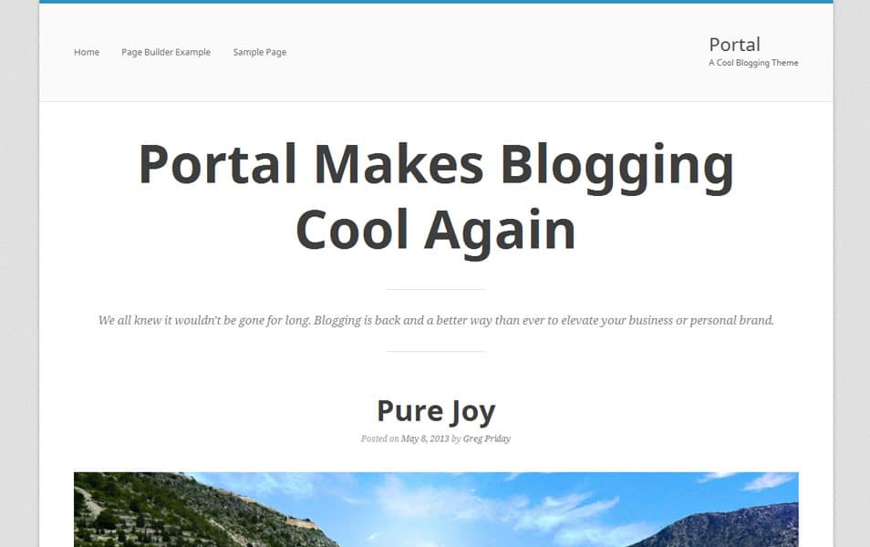 Portal Free Photography WordPress Theme
