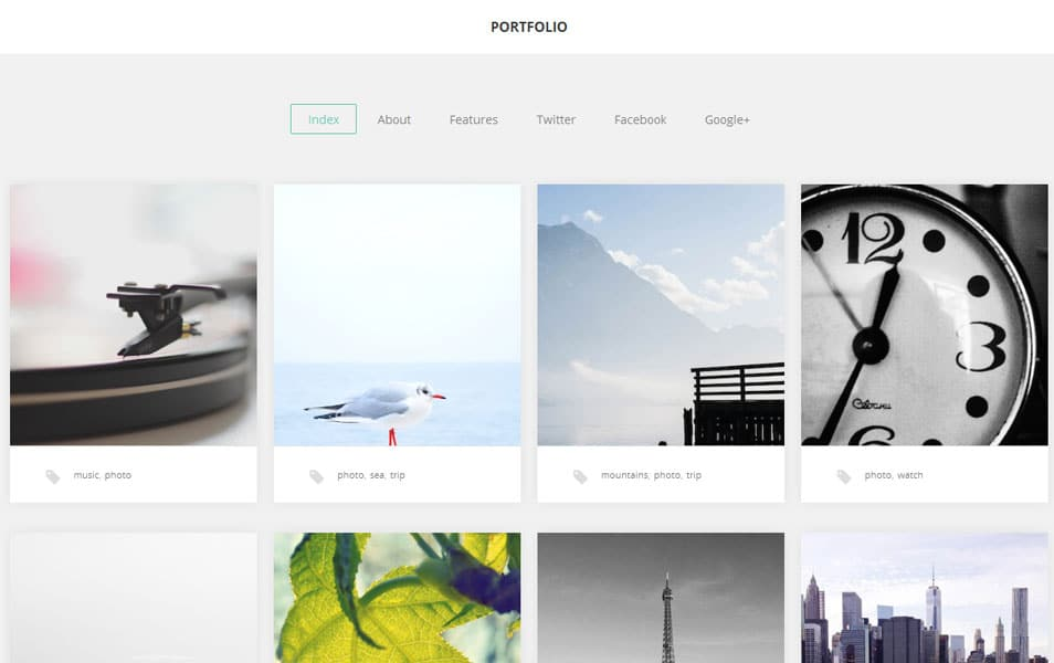 Portfolio Free Photography WordPress Theme