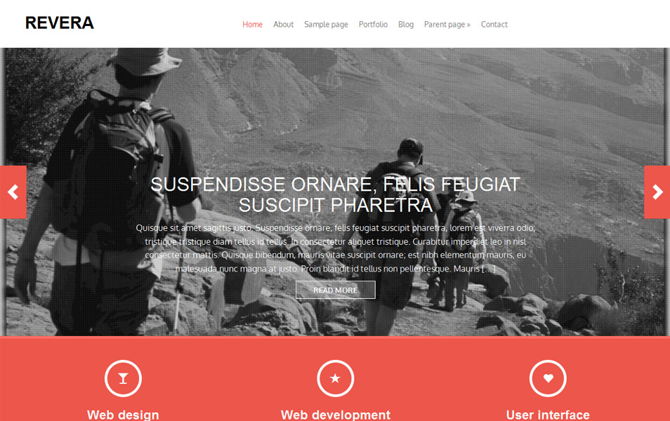 Revera Free Photography WordPress Theme