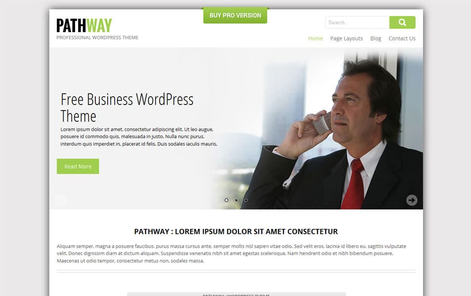 SKT Pathway Free Portfolio WordPress Theme