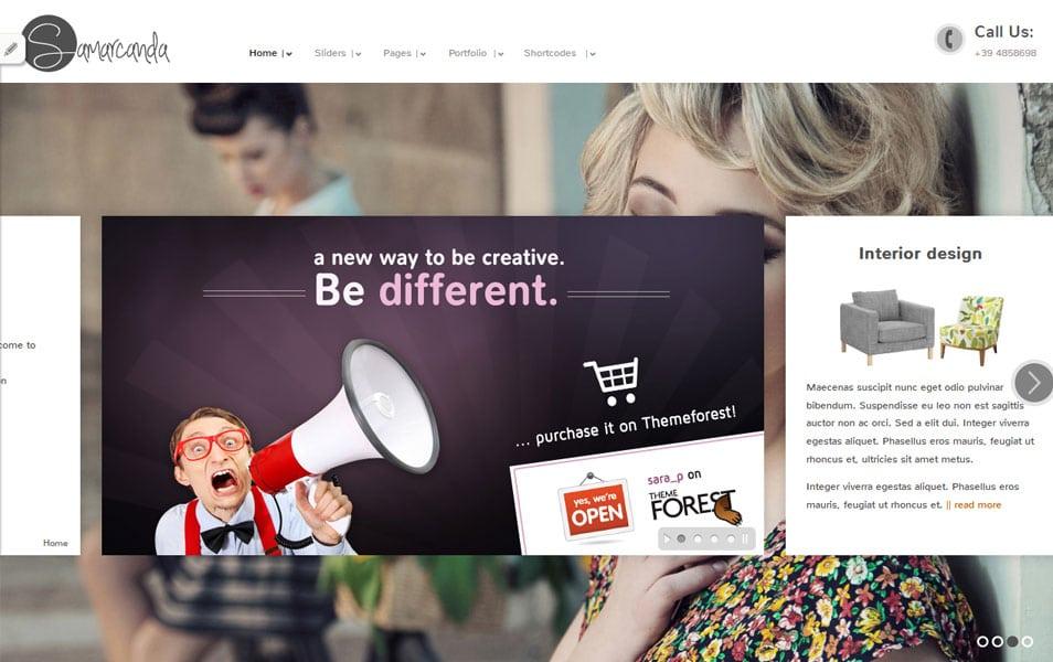 Samarcanda Free Portfolio WordPress Theme