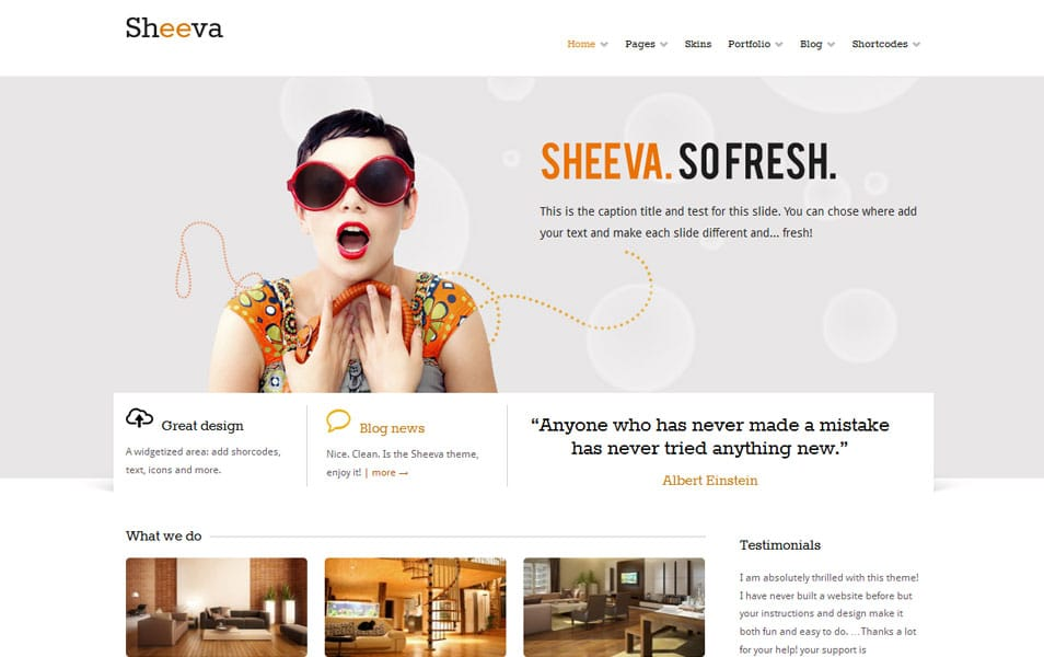 Sheeva Free Portfolio WordPress Theme