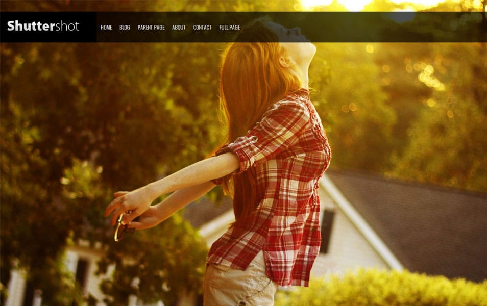 Shuttershot Free Photography WordPress Theme