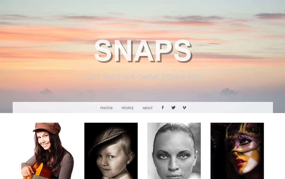 Snaps Free Portfolio WordPress Theme