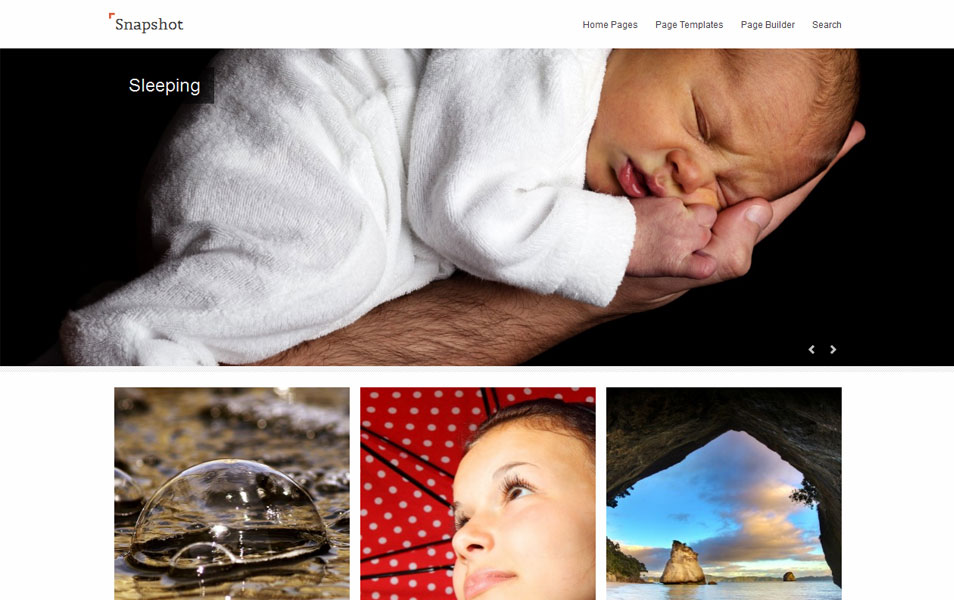 Snapshot Free Photography WordPress Theme