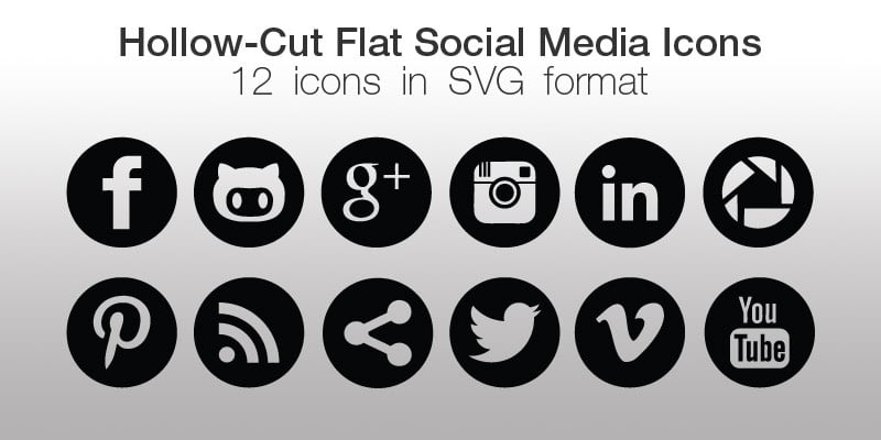 Social Sharing Vector Icons