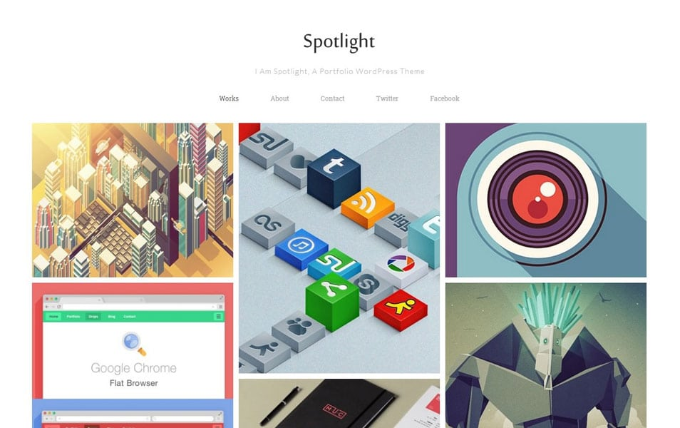 Spotlight Free Portfolio WordPress Theme