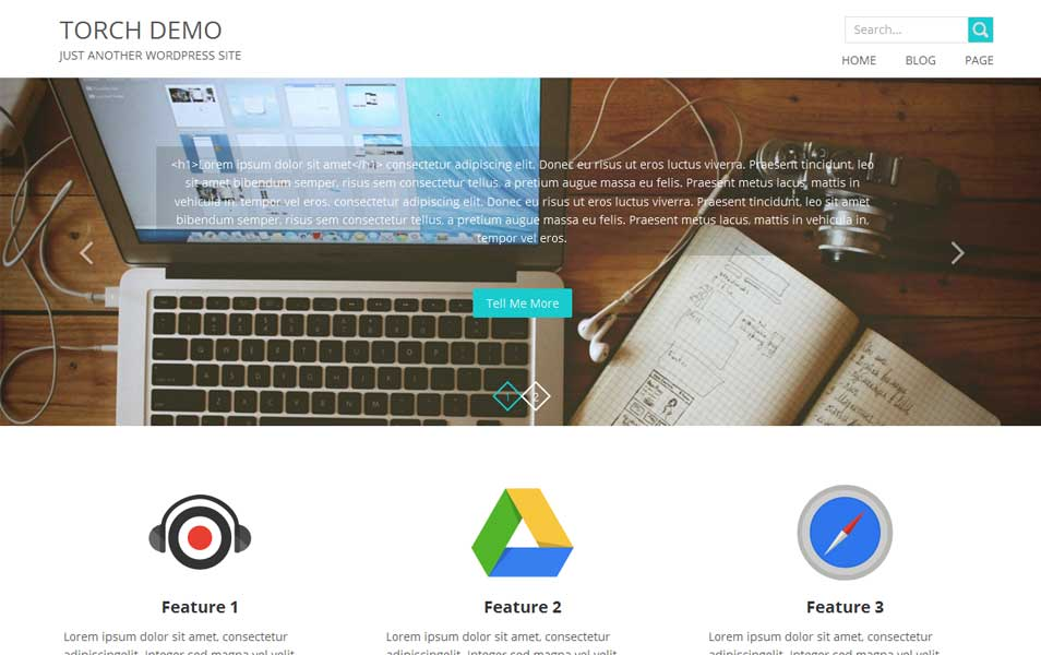 TORCH Free WordPress Theme