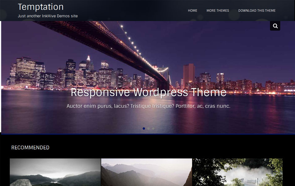 Temptation Free Photography WordPress Theme