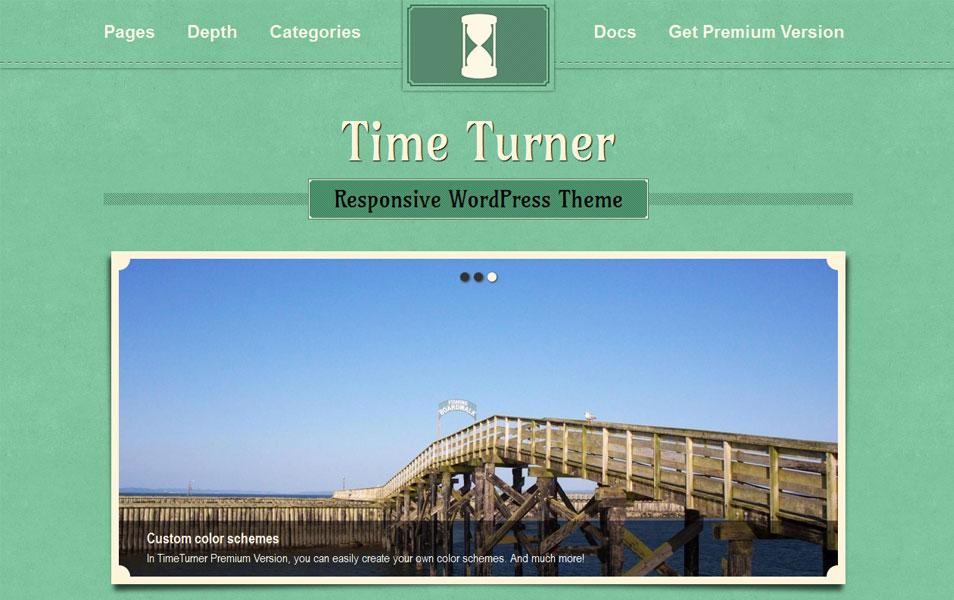 TimeTurner Free Portfolio WordPress Theme