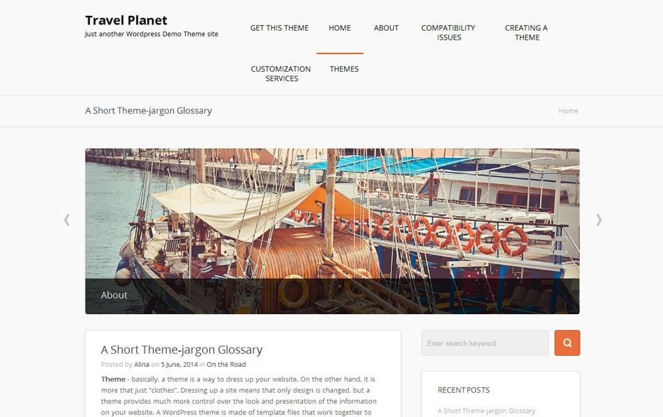 Travel Planet Free Photography WordPress Theme