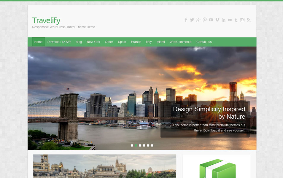 Travelify Free Photography WordPress Theme