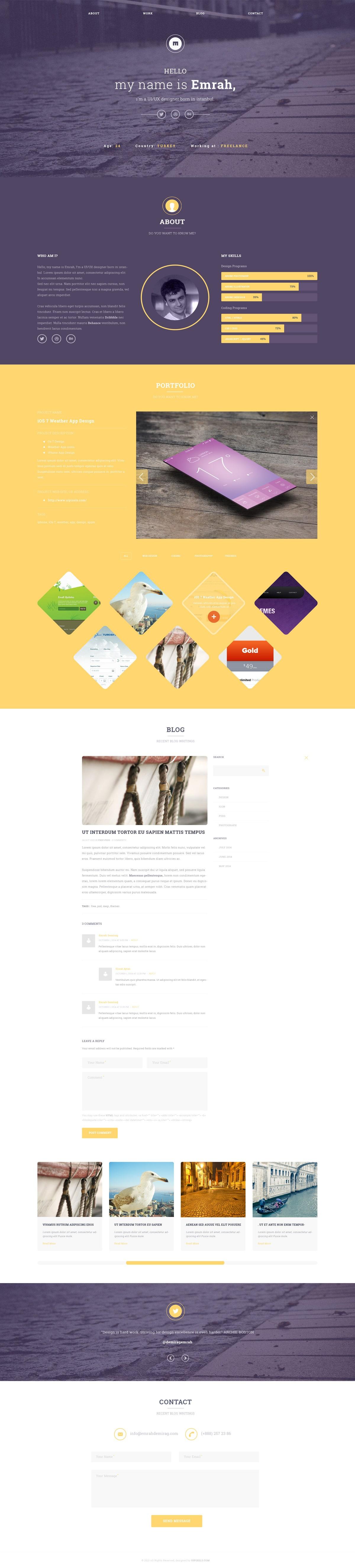 UIPIXELS Portfolio Template PSD