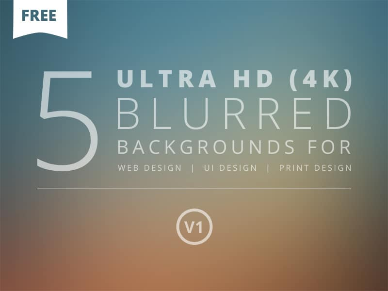 Ultra HD Blurred Backgrounds