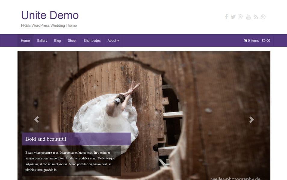 Unite Free Photography WordPress Theme