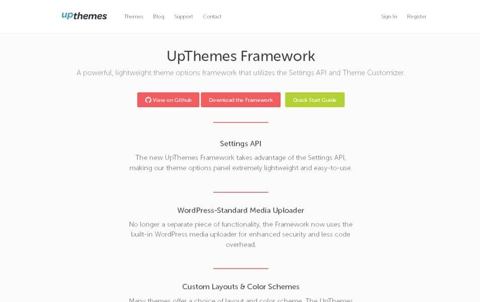 UpThemes Framework