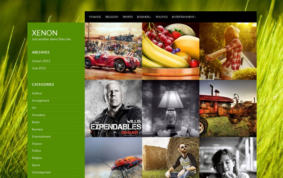 Xenon Free Photography WordPress Theme