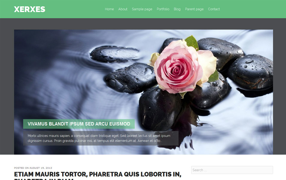 Xerxes Free Portfolio WordPress Theme