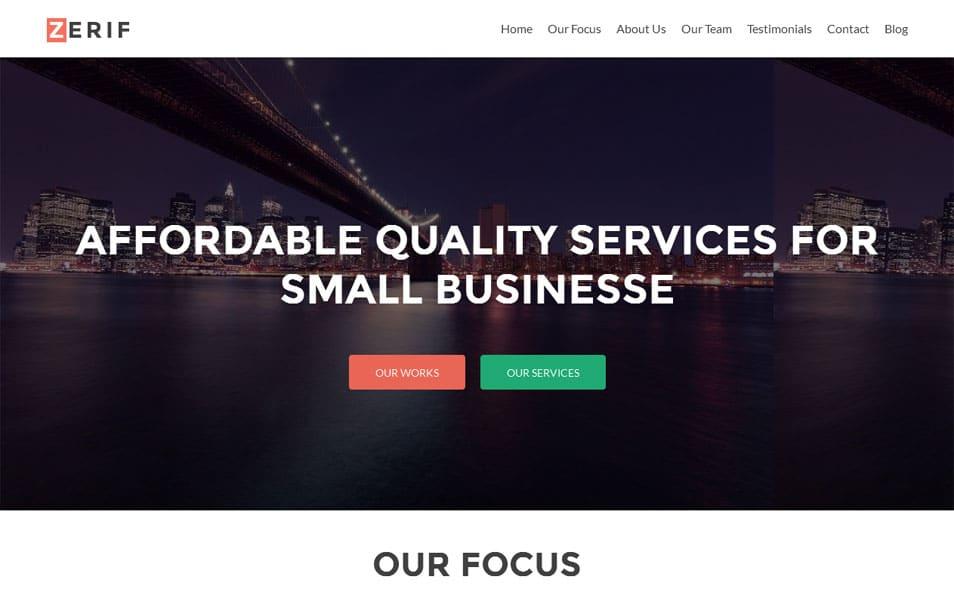Zerif Lite Free Portfolio WordPress Theme