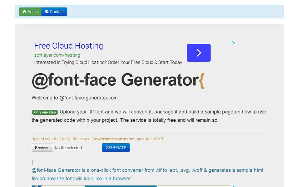 @font-face Generator