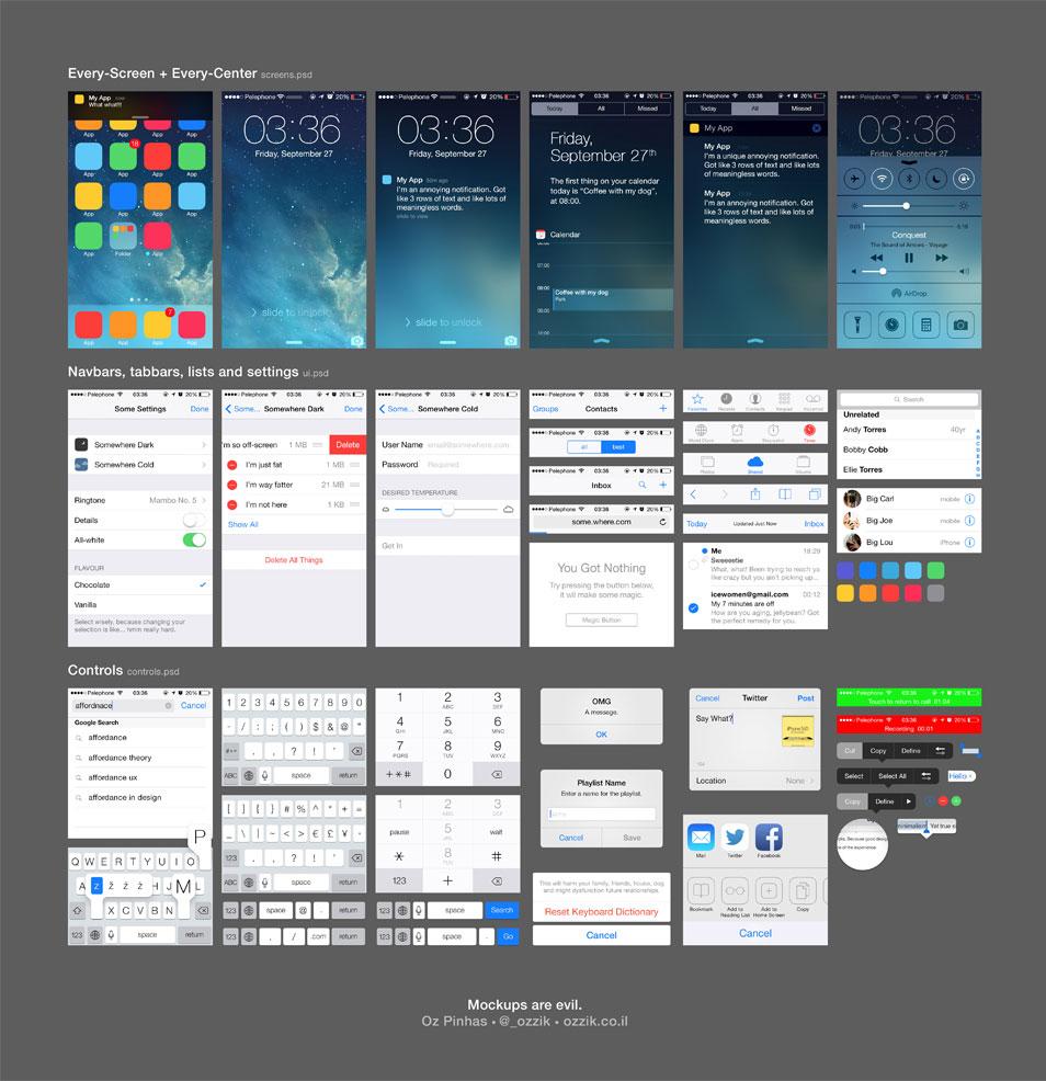 iOS 7 UI (free PSD)