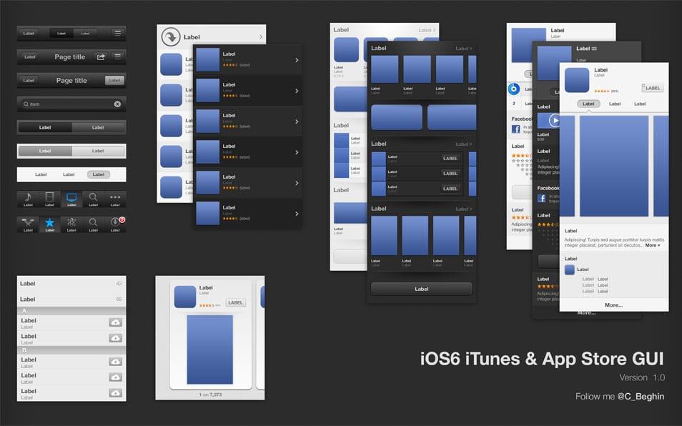 iOS6 iTunes & App Store GUI