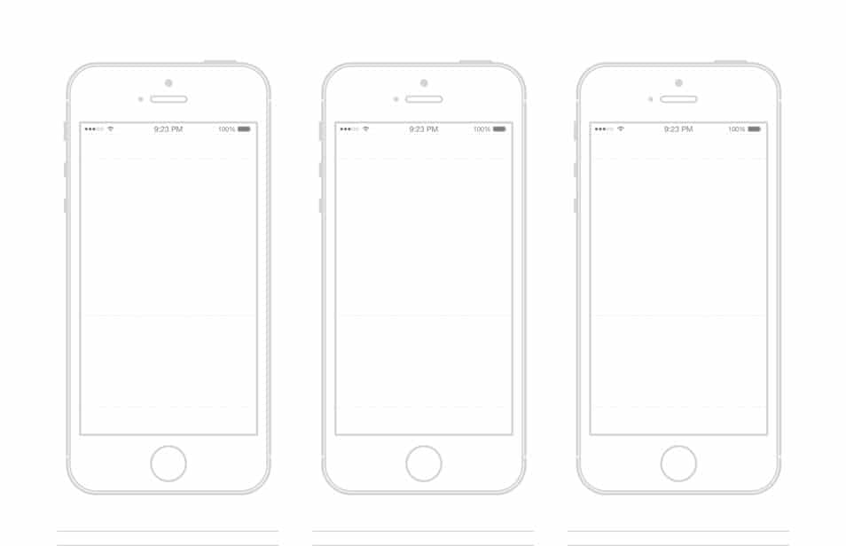 Iphone template illustrator gallery for Html5 wireframe template