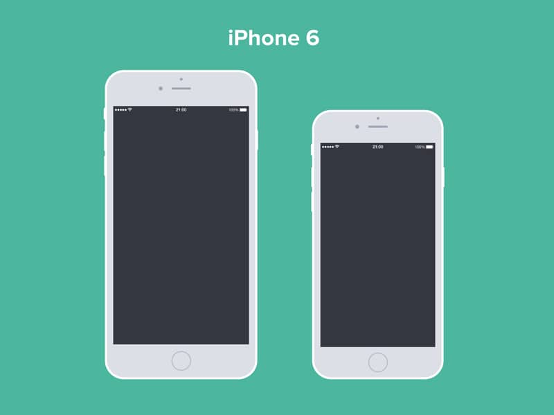 iPhone 6 and 6 Plus Free PSD Mockup
