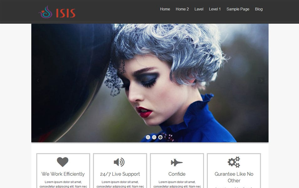 isis Free Portfolio WordPress Theme