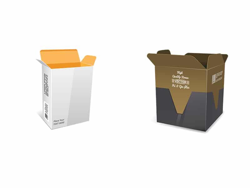 Boxes vector mockup
